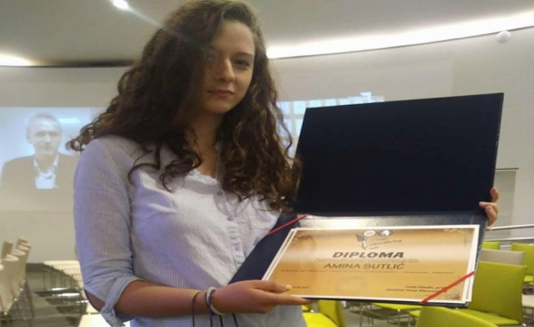 Amina Sultić dobila nagradu za literarni rad!